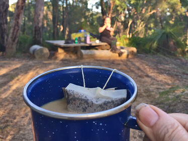 Camp coffee, yum!